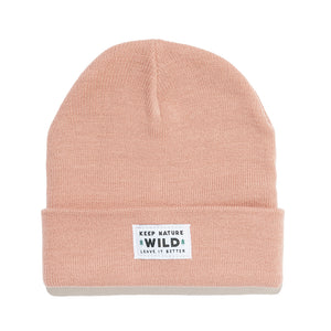Twin Pines Cuffed Beanie | Rose