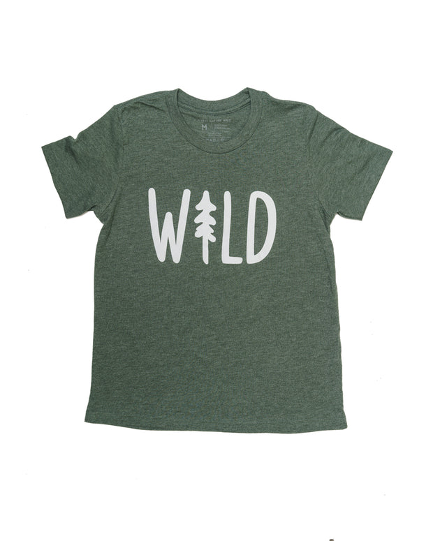 Wild Pine Youth Tee | Forest 1