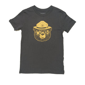 Wildbear Youth Tee | Coal