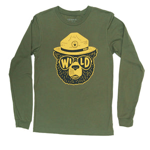 Wildbear Unisex Long Sleeve | Olive