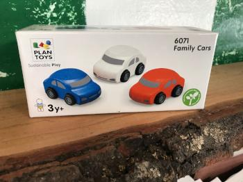 Wooden Cars, Set of 3