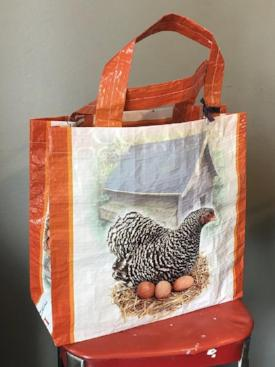Tote Bag, Recycled Feed Bag