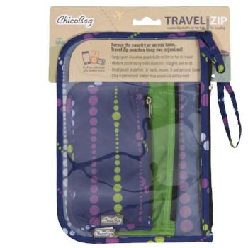 Travel Reusable 3 Pouch Set