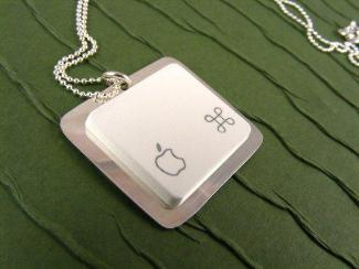 Apple Square Key Necklace