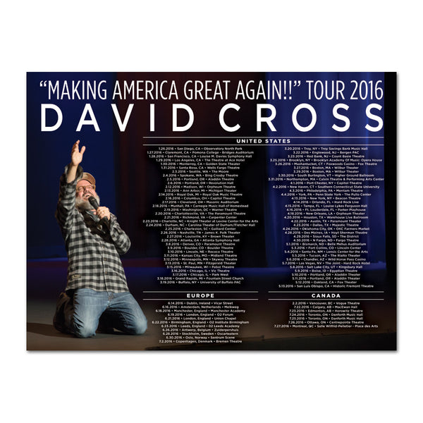 Making America Great Again 2016 Tour Poster (Autographed)
