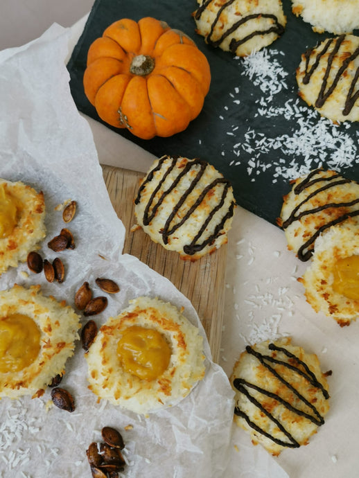 Spiced pumpkin and dark chocolate Sisserou Macaroons