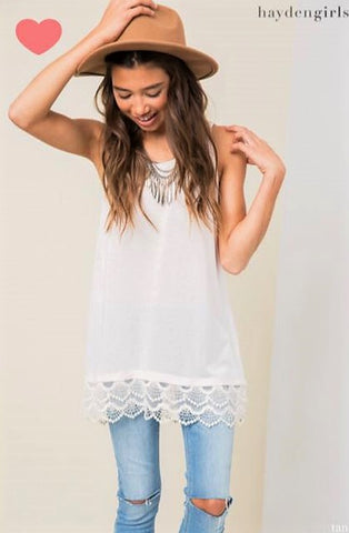 Lace Trim Kids Tunic