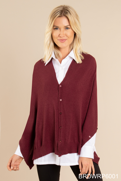 Cozy Bordeaux Wrap