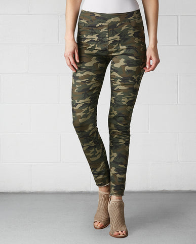 OMG Camo Distressed Printed Jeans