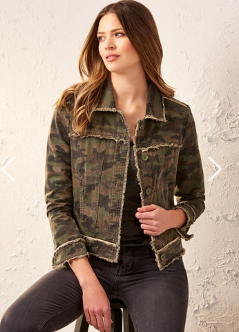 Camo Button Front Jacket