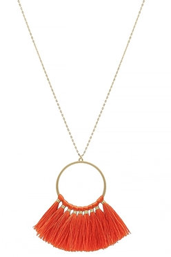 Gold Necklace with Tassel