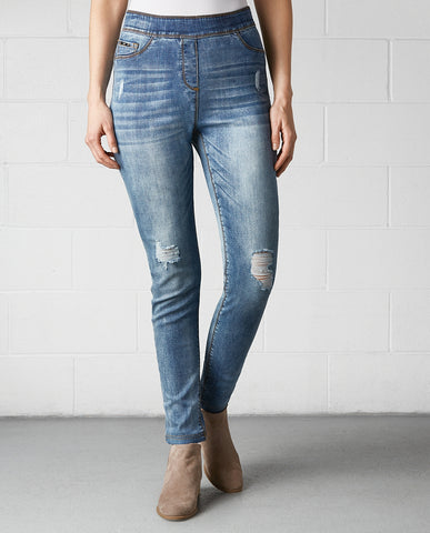 OMG High Rise Skinny Distressed Jeans