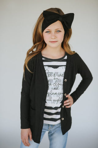 Kids Black Cardigan