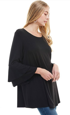 Natasha Ruffle Sleeve Top
