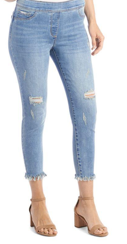 OMG Distressed Frayed Capri