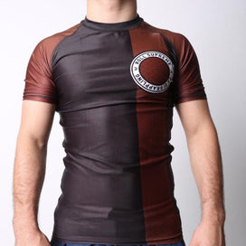 Brown ranked rashguard