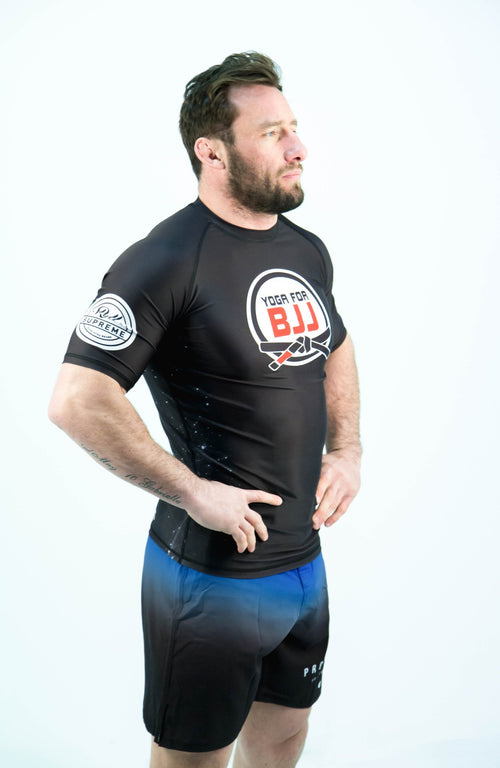 Yoga for BJJ Rash Guard - Black