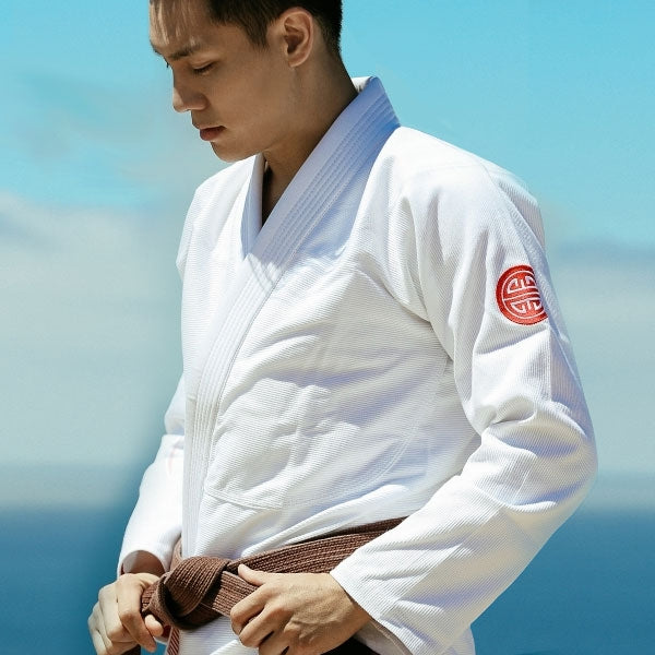 Maeda Red Label 2.0 BJJ Gi - With FREE White Belt - white