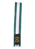 Kids Belts with White Stripe - green