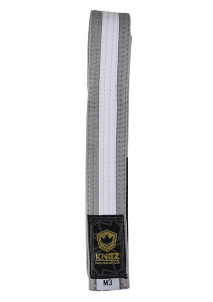 Kids Belts with White Stripe - grey