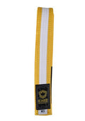 Kids Belts with White Stripe - yellow