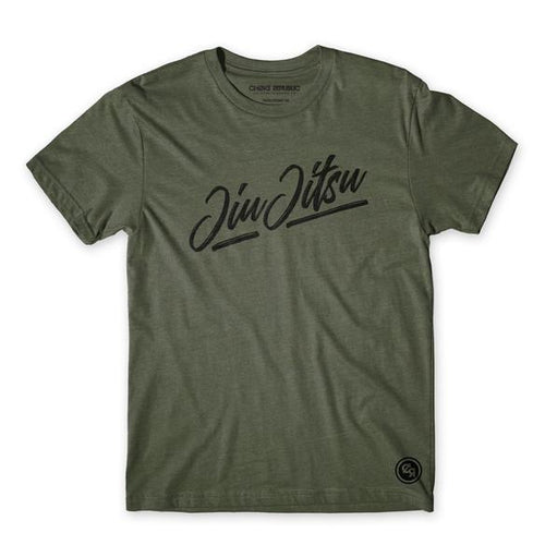 Choke Republic Script Tee - Military Green