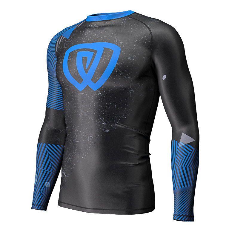 Phalanx Chaos Ranked Rashguard - Blue - Front right