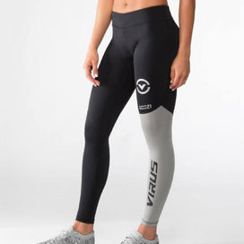 Virus Stay Cool Compression Pants - Black/Silver