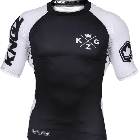 Kingz Ranked V3 S/S Rash Guard - White