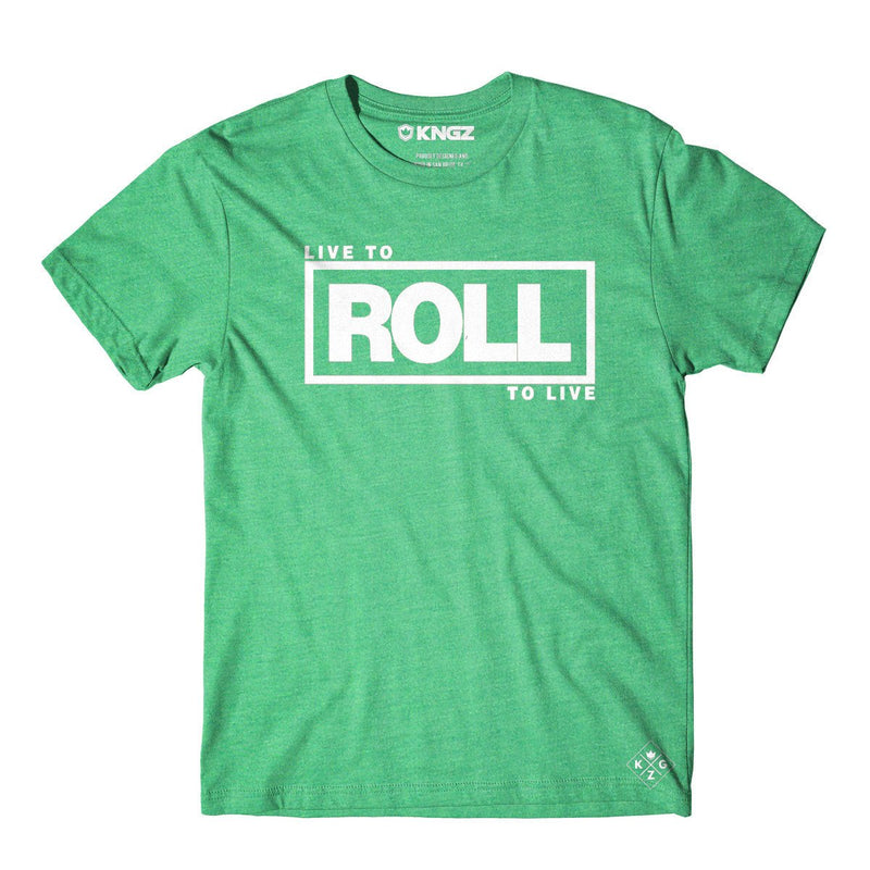 Roll To Live Tee - Heather Kelly Green