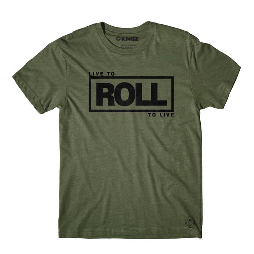 Roll To Live Tee - Military Green