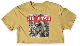 Jiu Jitsu Tiger Women's Crop Top - Mustard