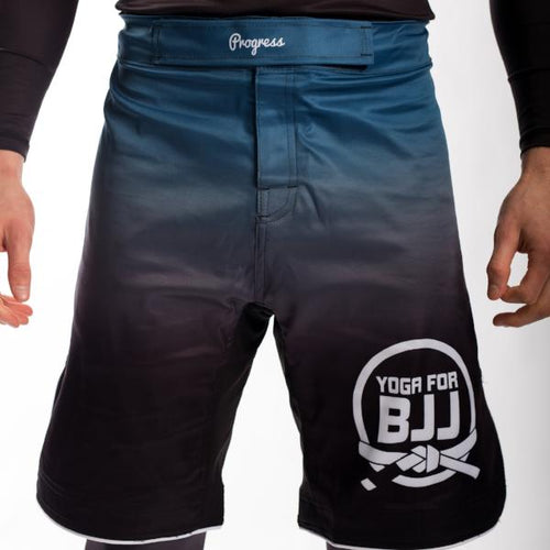 Yoga for BJJ Shorts - Blue fade