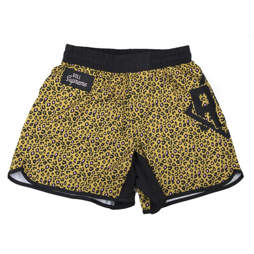Roll Supreme Leopard Shorts - Yellow