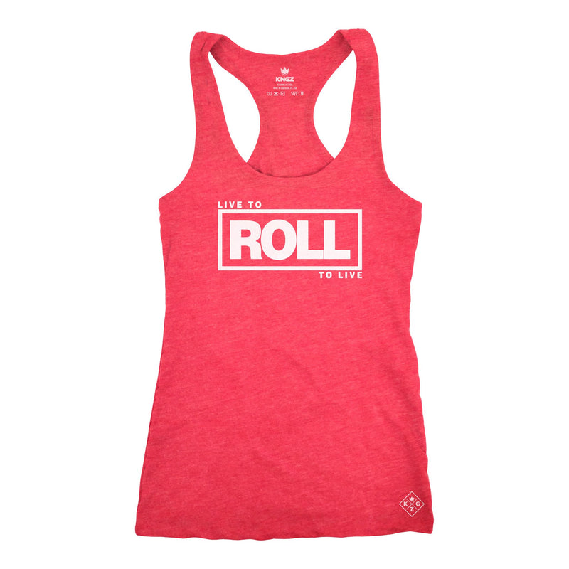 Women's Roll To Live Racerback - Vintage Red
