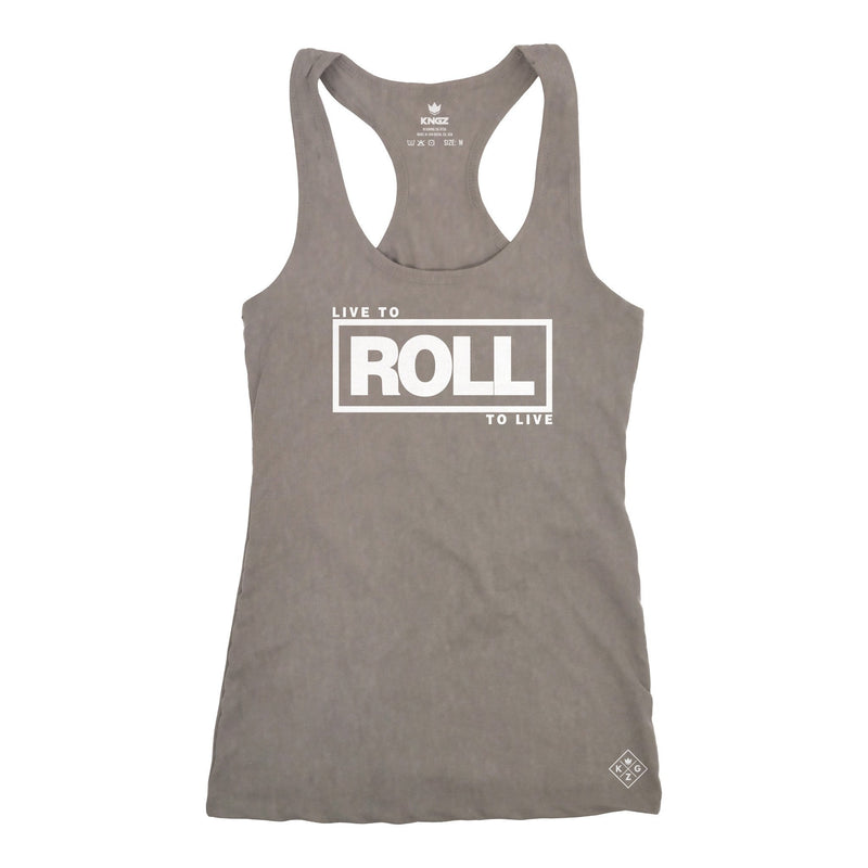 Women's Roll To Live Racerback - Stone Gray