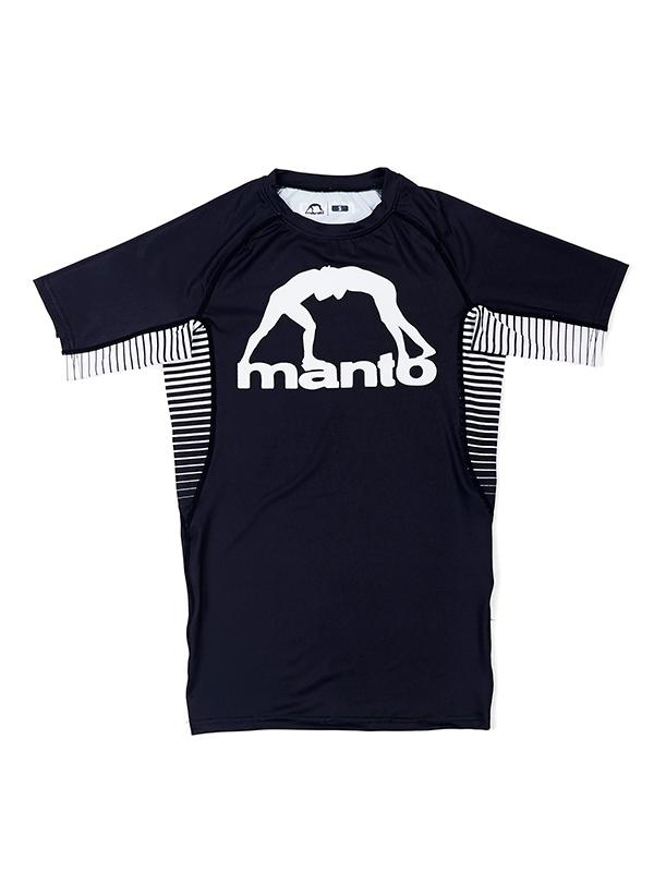 Manto Logo Rashguard - Black/White
