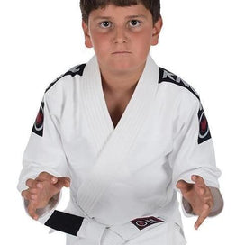 Kingz Kid's Basic Jiu Jitsu Gi (w/ Free White Belt) - White