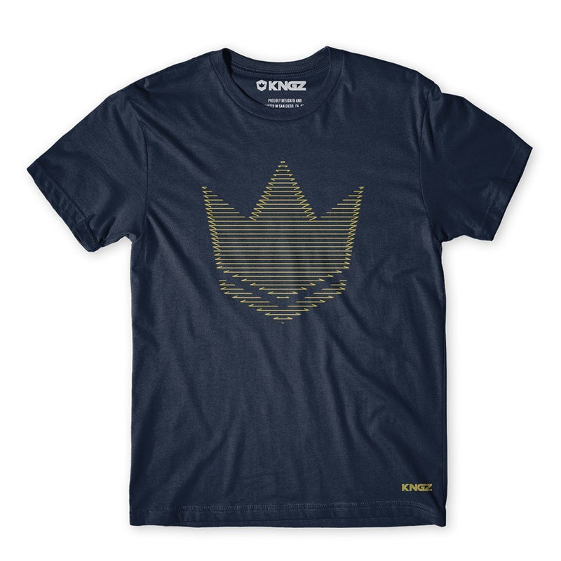 Kingz Crown Wire Tee - navy