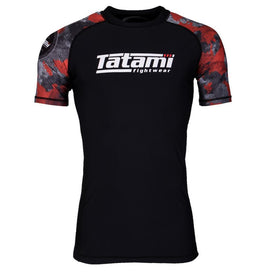 Tatami Renegade Red Camo Short Sleeve Rash Guard