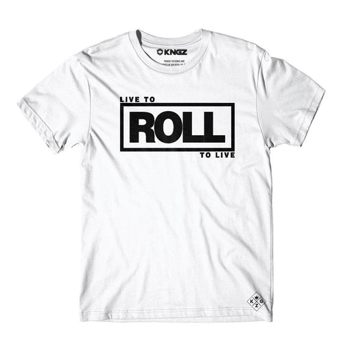 Roll To Live Tee - White