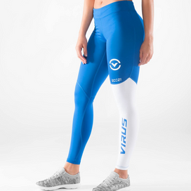 Virus Stay Cool Compression Pants - Blue/White