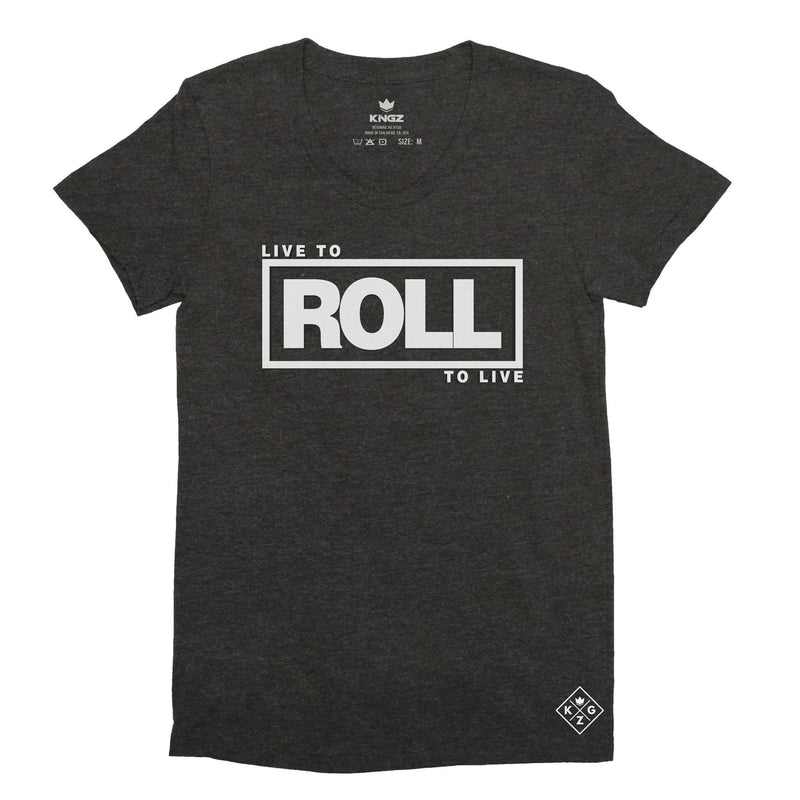 Women's Roll To Live Tee - Vintage Black