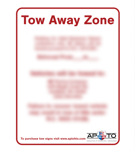 Compliant Tow-Away Zone Signs