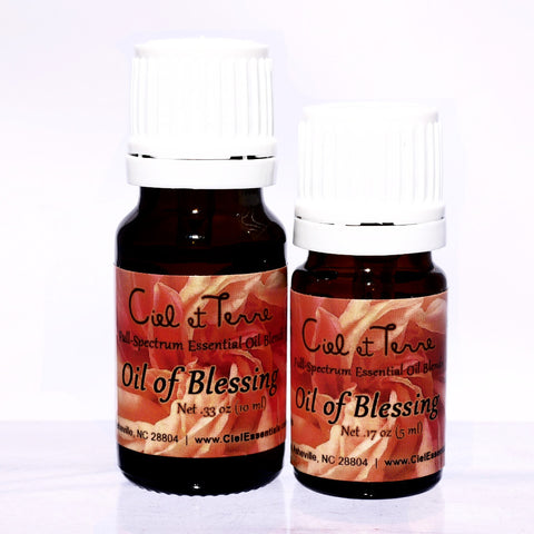Oil of Blessing Pure Essential Oil Blend, 10 and 5 ml. glass bottle - Ciel et Terre