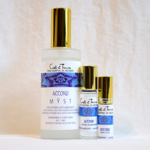 ACCORD Combination Kit- 4 oz. MYST, 9 ml PARFUM, travel MYST.