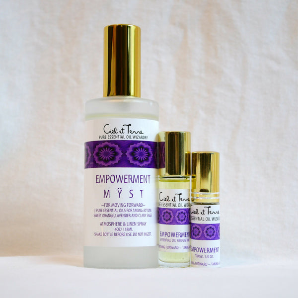 EMPOWERMENT Combination Kit - 4 oz. MYST, 9 ml PARFUM, travel MYST.