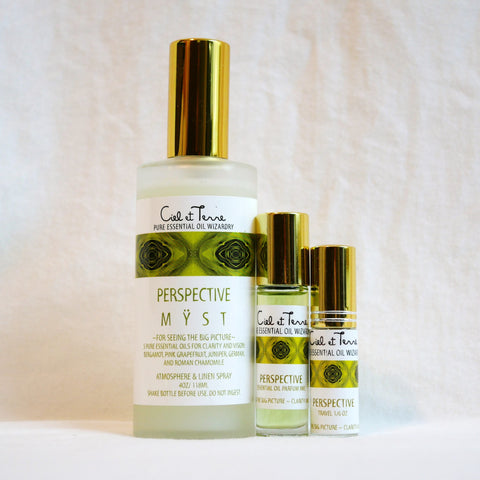 PERSPECTIVE Combination Kit - 4 oz. MYST, 9 ml PARFUM, travel MYST.