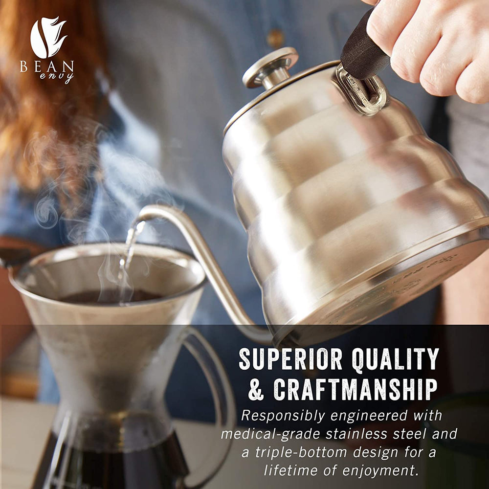Load image into Gallery viewer, Bean Envy Premium Quality Pour-Over Coffee Kettle 1.2L - Includes Thermometer