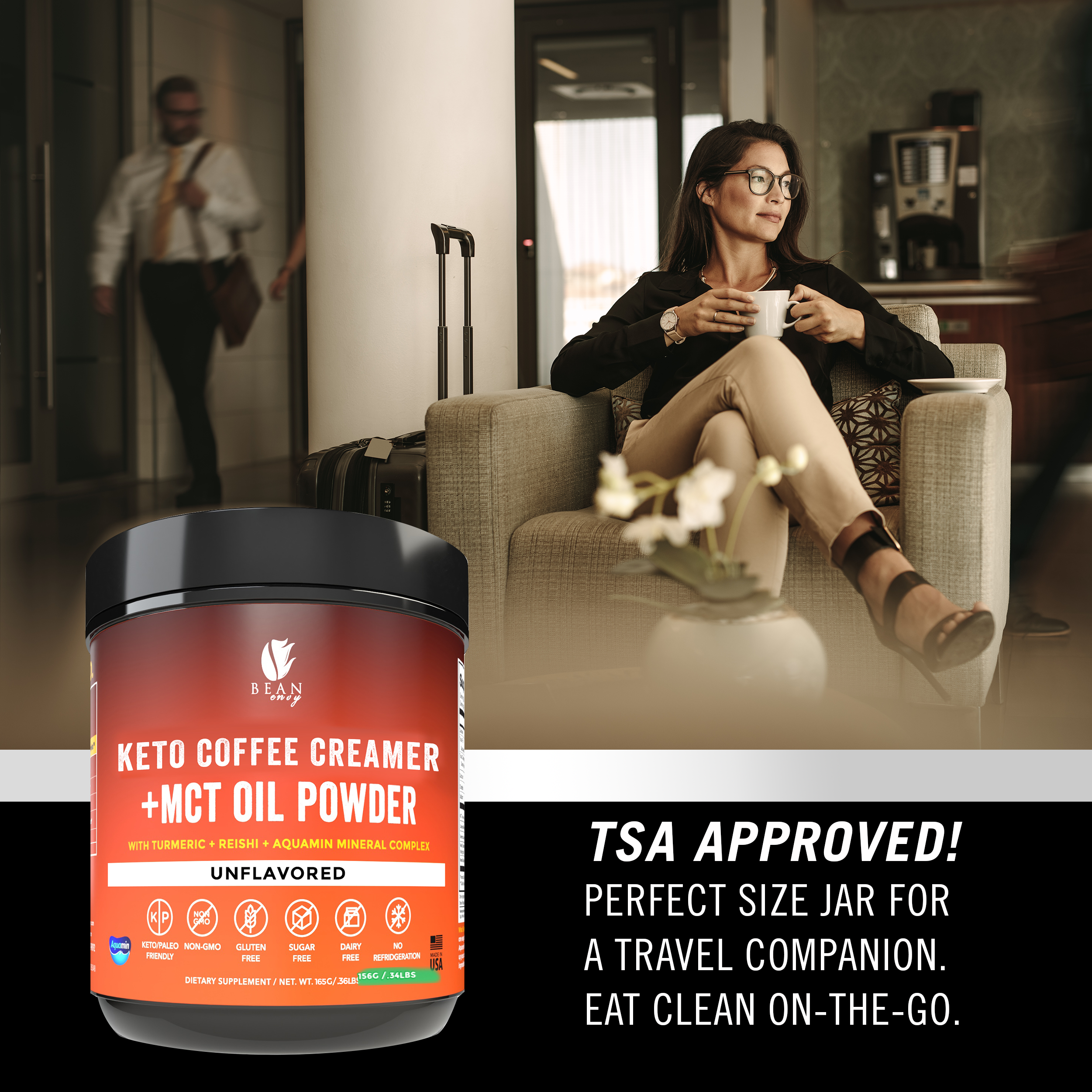 Bean Envy Keto Coffee Creamer - Coconut Milk Powder + MCT Oil Powder - Superfood Blend for Energy & Immunity Boost. Perfect for Keto, Stress management and Joint Mobility Support